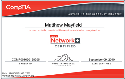 Picture of Network+ Certification