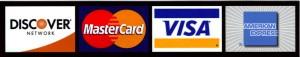 visa - mastercard - discover - amex logo